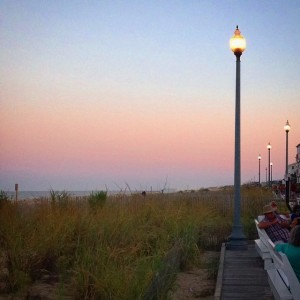 A sublime sunset at the Rehoboth Beach boardwalk