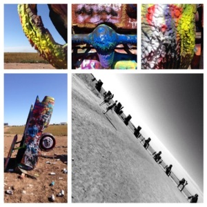 Cadillac Ranch - worth the 2 minute detour from I-40 but too crowded for my taste