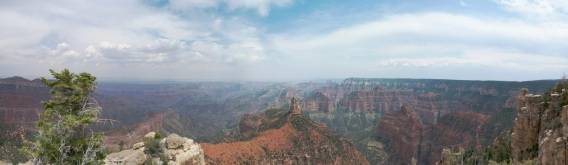 Panorama from the North Rim of the Grand Canyon, a completely different experience than the crowded South Rim