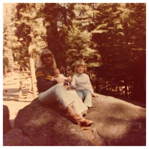 The only picture I could find from Lake Tahoe happens to from my very first vacation at 6 weeks old