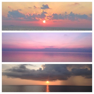 No TV in your cabin so the evening entertainment is jaw-dropping sunsets