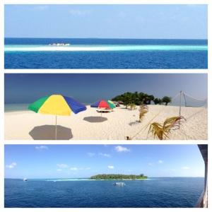 Sandbank? Deserted island?  Inhabited island?  Every day is a new destination