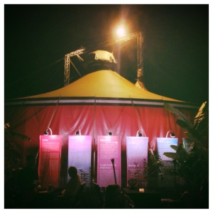 A circus tent in Cambodia?  Yup!  With a fantastic show inside!