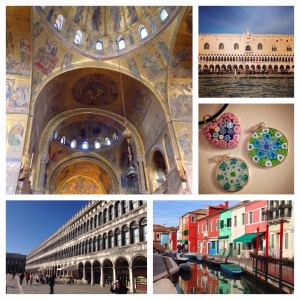 The magnificent mosaics of St. Mark's; the Doge's Palace; Murano glass necklaces; St. Mark's square; the colorful homes of Burano