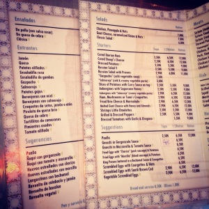 "Comparing menus is a great way to learn the ""important"" words in a new country"
