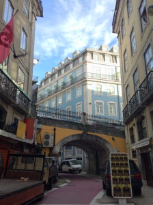 Steep streets and classic architecture mix together